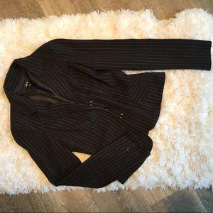 Black & Pink Pinstriped Blazer